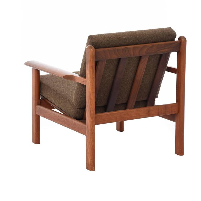 Teak Danish Modern Volther Lounge Chair For Sale