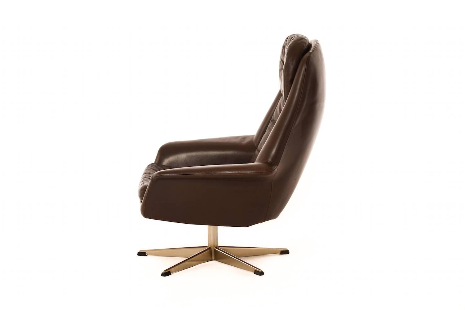 danish modern tufted leather chair at 1stdibs