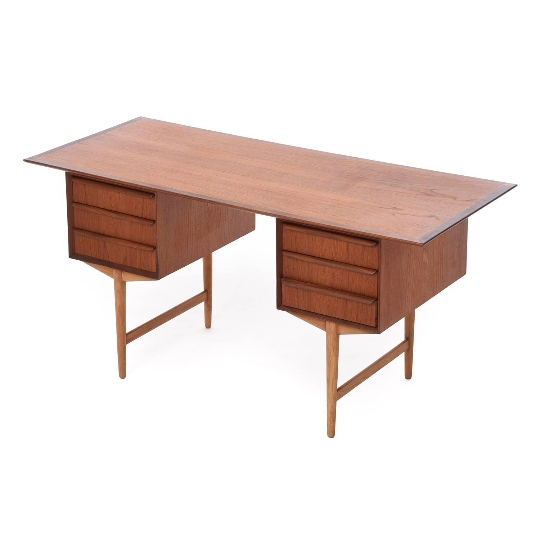 Danish modern desk for sale at 1stdibs for Modern office desk for sale