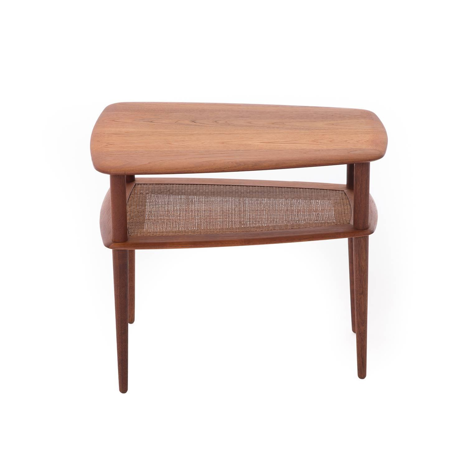 Danish modern coffee table with shelf for sale at 1stdibs for Modern coffee table for sale