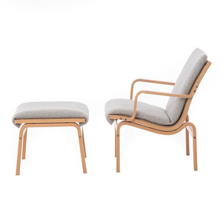 Danish Modern Bentwood Chair And Ottoman At 1stdibs