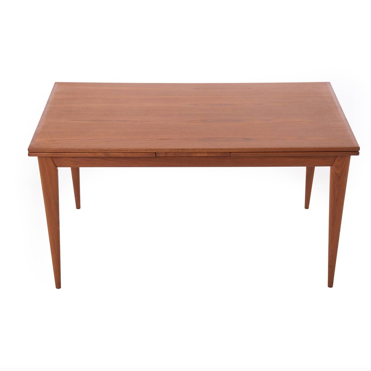 Danish modern extension dining table for sale at 1stdibs for Danish modern dining room table