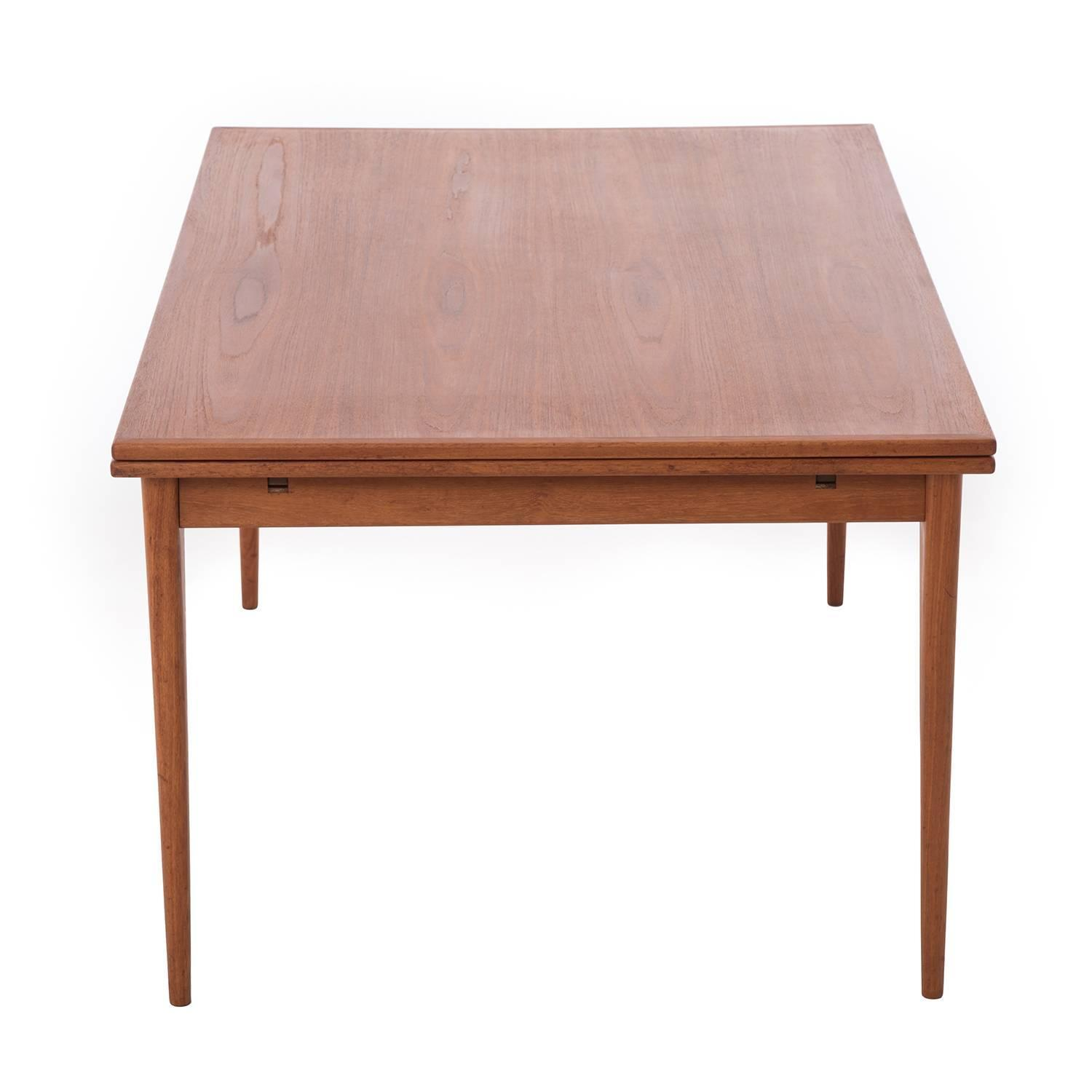 Danish modern extension dining table for sale at 1stdibs for Most beautiful dining room tables