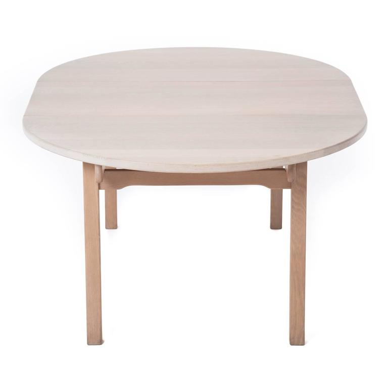 danish modern white oak dining table at 1stdibs. Black Bedroom Furniture Sets. Home Design Ideas