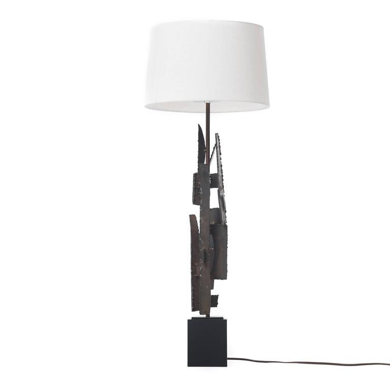 American Mid-Century Modern Brutalist Lamp For Sale