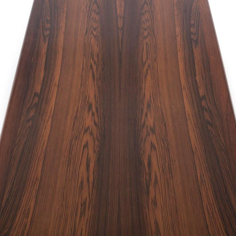 Danish Modern Rosewood Coffee Table with Shelf For Sale 2