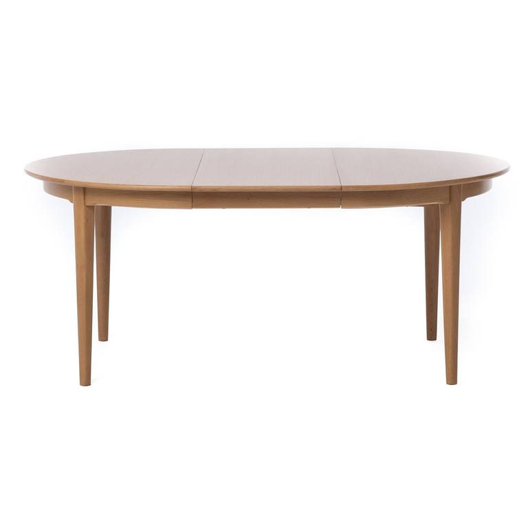 Danish Modern Dining Table With Four Leaves
