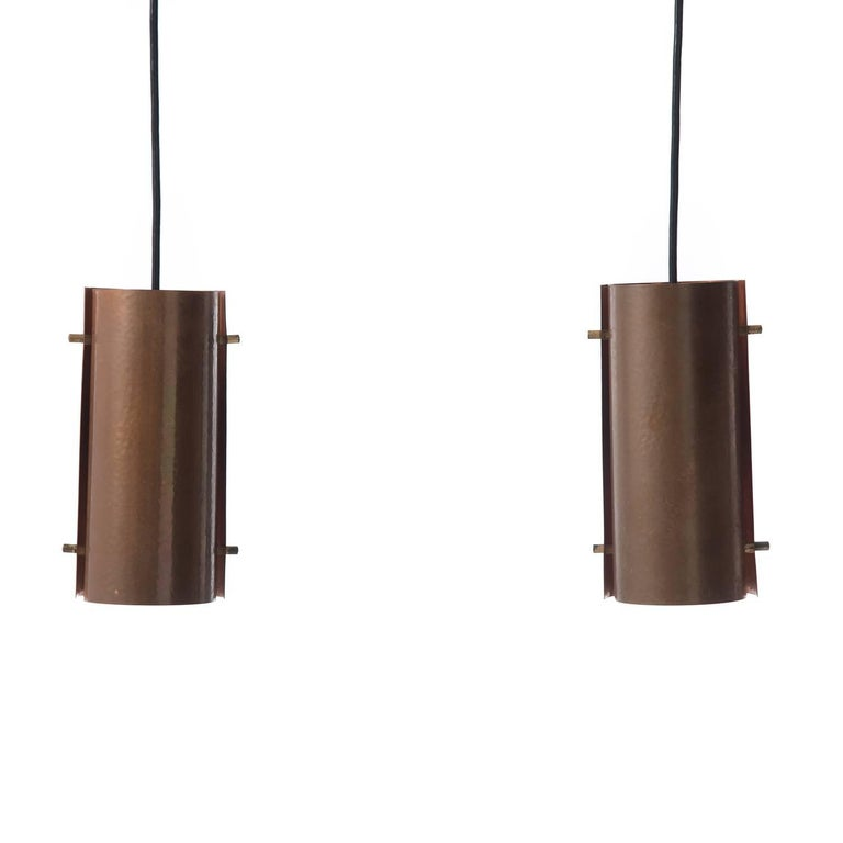 Danish Modern Copper Pendant Set For Sale