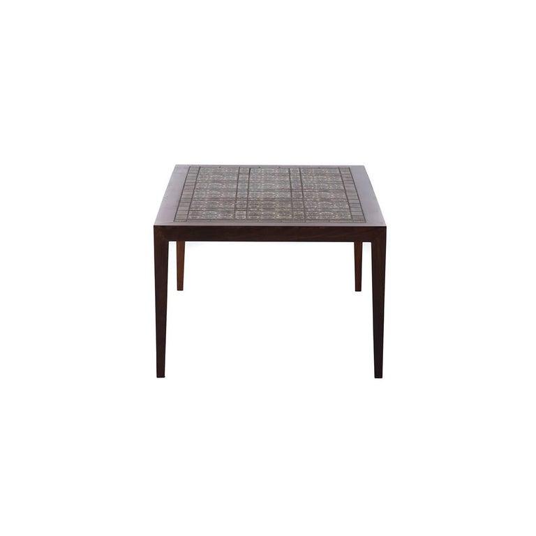 Danish Modern Coffee Table With Royal Copenhagen Tile Inlay By Nils - Coffee table with tile inlay