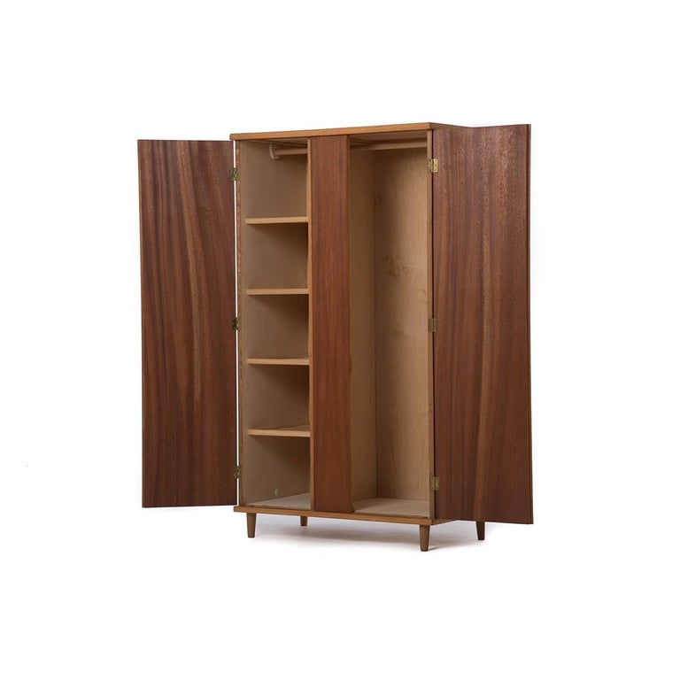 danish modern armoire wardrobe for sale at 1stdibs. Black Bedroom Furniture Sets. Home Design Ideas
