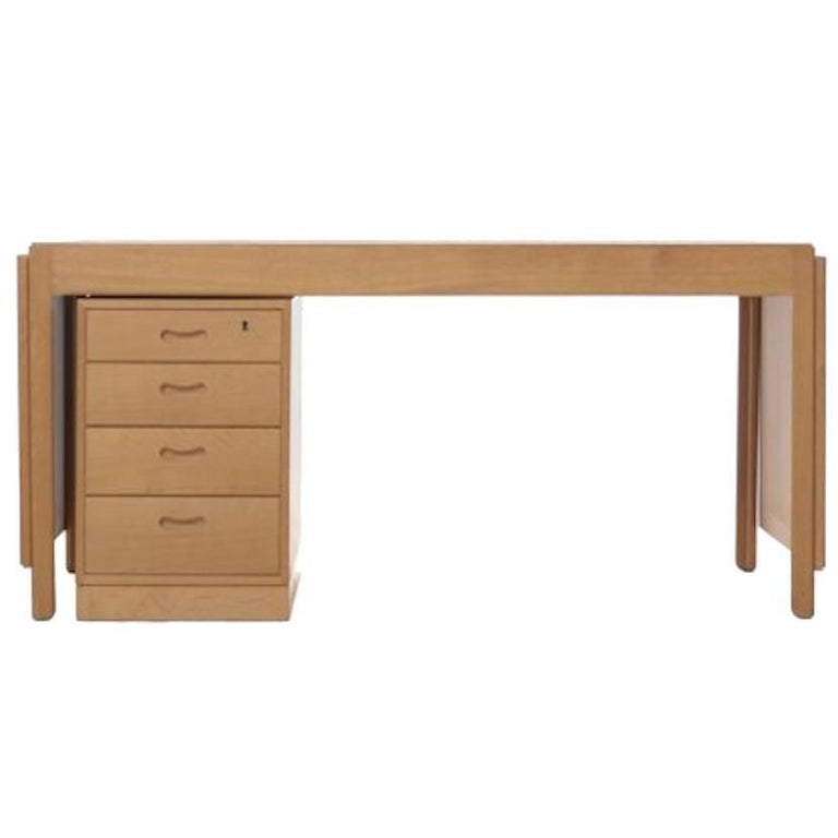Vintage Danish Modern Drop-Leaf Desk For Sale