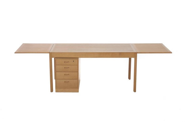 Scandinavian Modern Vintage Danish Modern Drop-Leaf Desk For Sale