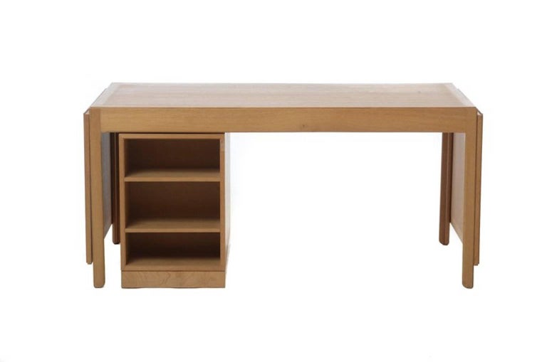 Lacquered Vintage Danish Modern Drop-Leaf Desk For Sale