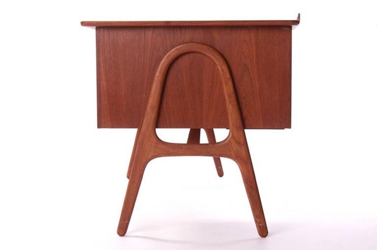Vintage Danish Modern Desk In Teak By Svend Madsen At 1stdibs