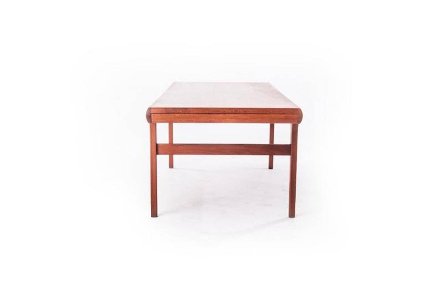 Danish Modern Coffee Table With Retractable Shelves For Sale At 1stdibs