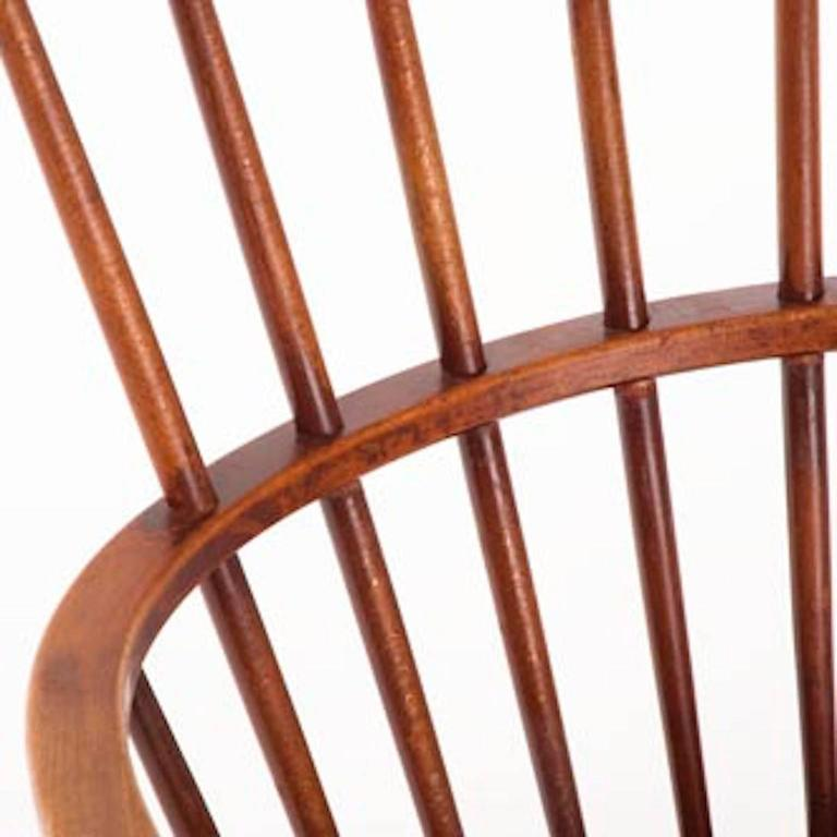 Vintage Danish Modern Windsor Chair In Excellent Condition In Minneapolis, MN
