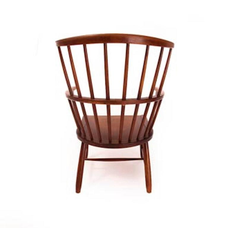 Beech Vintage Danish Modern Windsor Chair