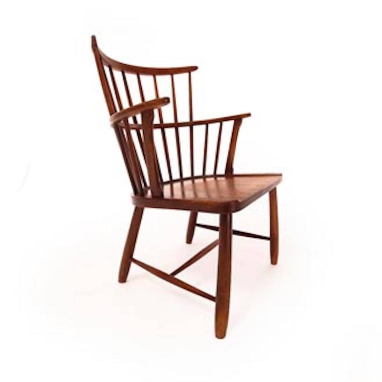Scandinavian Modern Vintage Danish Modern Windsor Chair For Sale