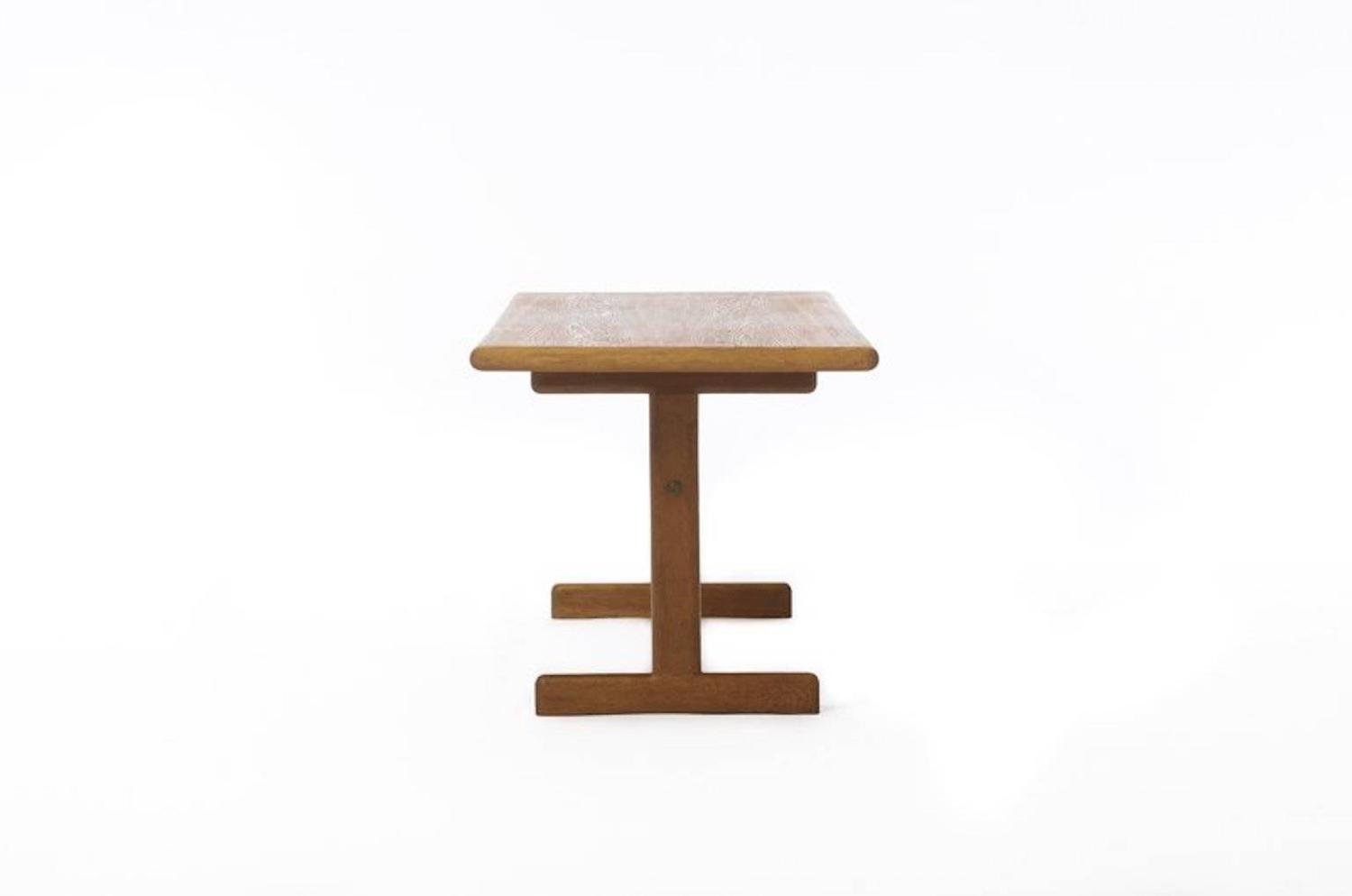 Vintage Danish Modern Coffee Table In White Oak For Sale At 1stdibs