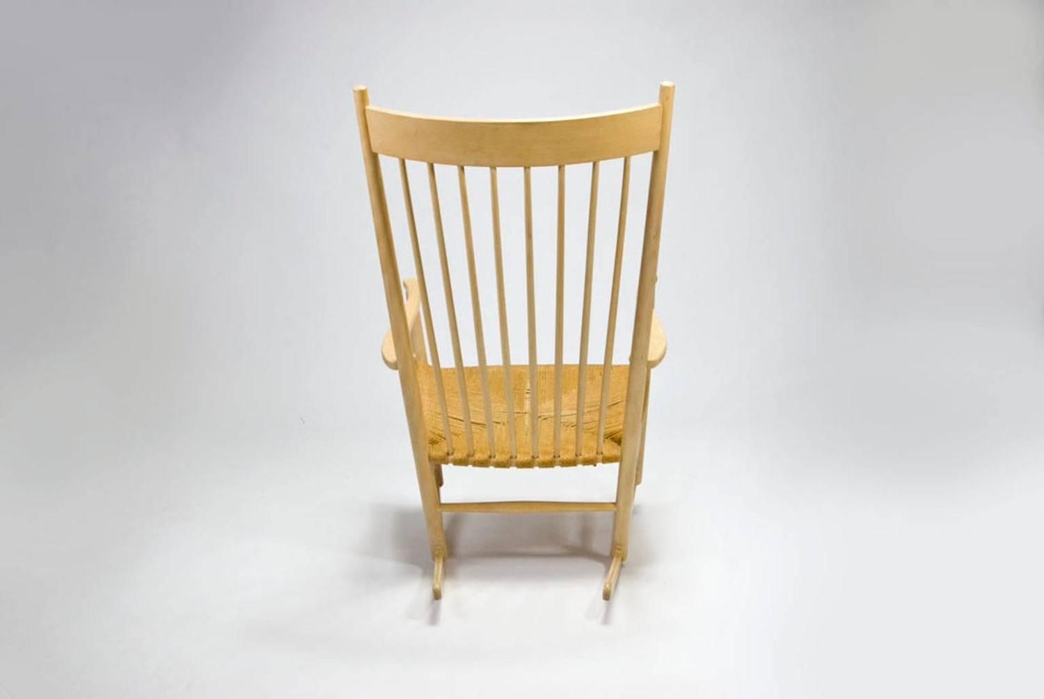 Vintage Danish Modern Rocking Chair By Hans J. Wegner At 1stdibs. Full resolution‎  portraiture, nominally Width 1500 Height 1004 pixels, portraiture with #AC7A20.