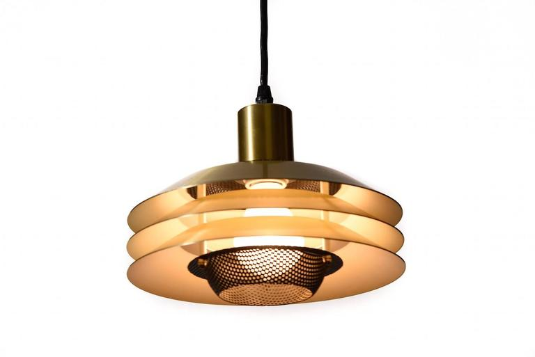 danish modern three tiered pendant light 3