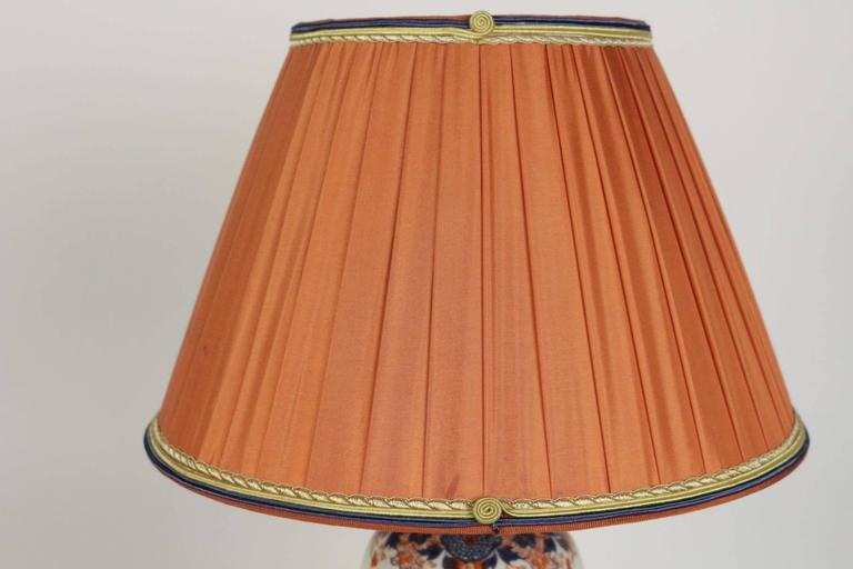 Single Imari China Porcelain Table Lamp of the 19th Century For Sale 2