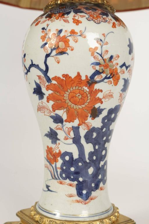 Single Imari China Porcelain Table Lamp of the 19th Century In Excellent Condition For Sale In Saint-Ouen, FR