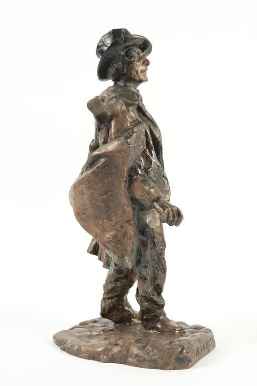 Belle Époque Sculpture of a Typical Person Living at the Butte Montmartre in the 19th Century For Sale