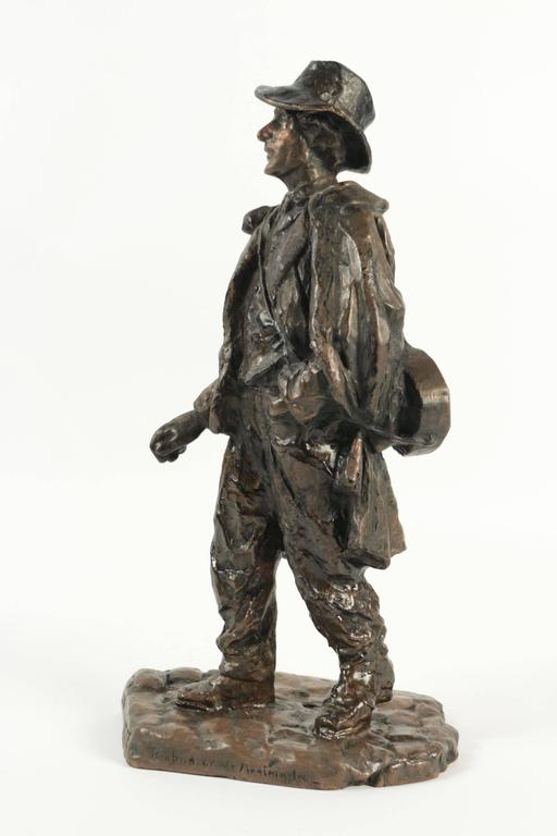 French Sculpture of a Typical Person Living at the Butte Montmartre in the 19th Century For Sale
