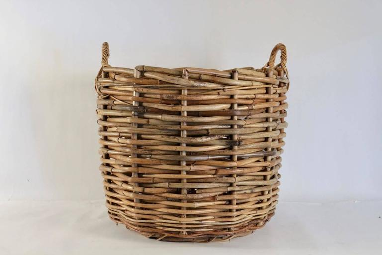 Large Scale Basket For Logs And Kindling For Sale At 1stdibs