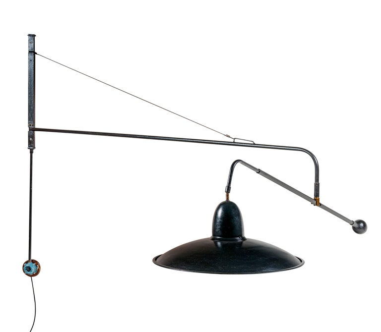 Wall Lamps Swivel : Wall Architect Lamp, Double, Swivel, Model 1900 For Sale at 1stdibs