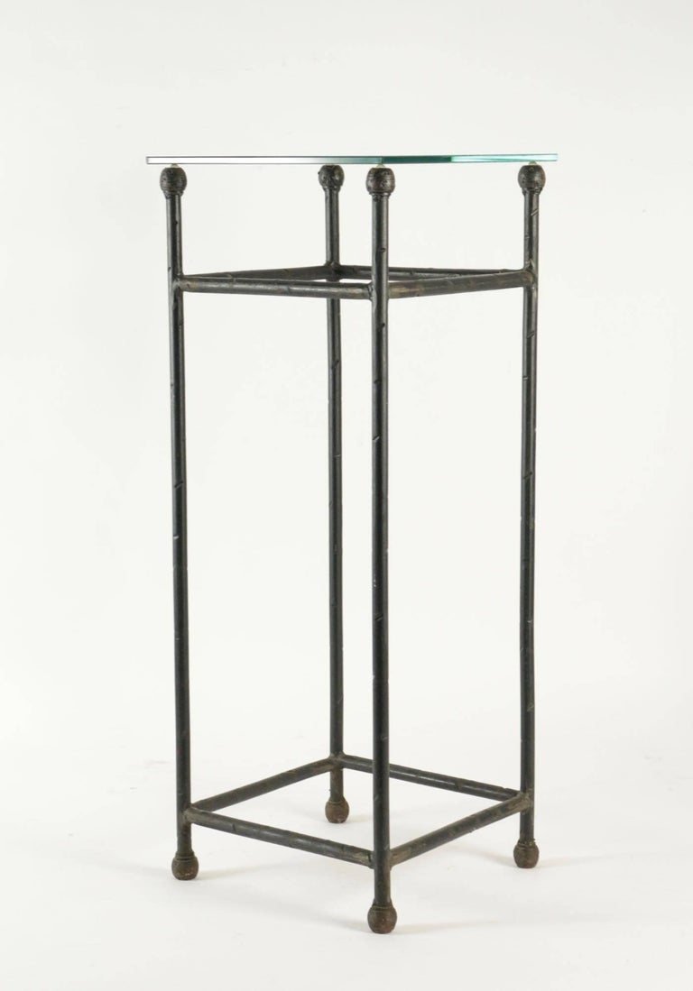 Two Consoles in Wrought Iron under Glass in an Industrial Style 20th Century For Sale 2
