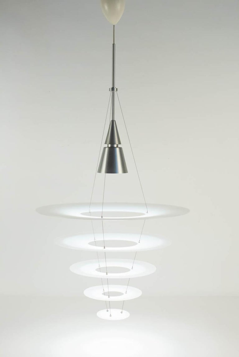Pair Of Hanging Light Fixture Contemporary From The House Louis Poulsen Designed