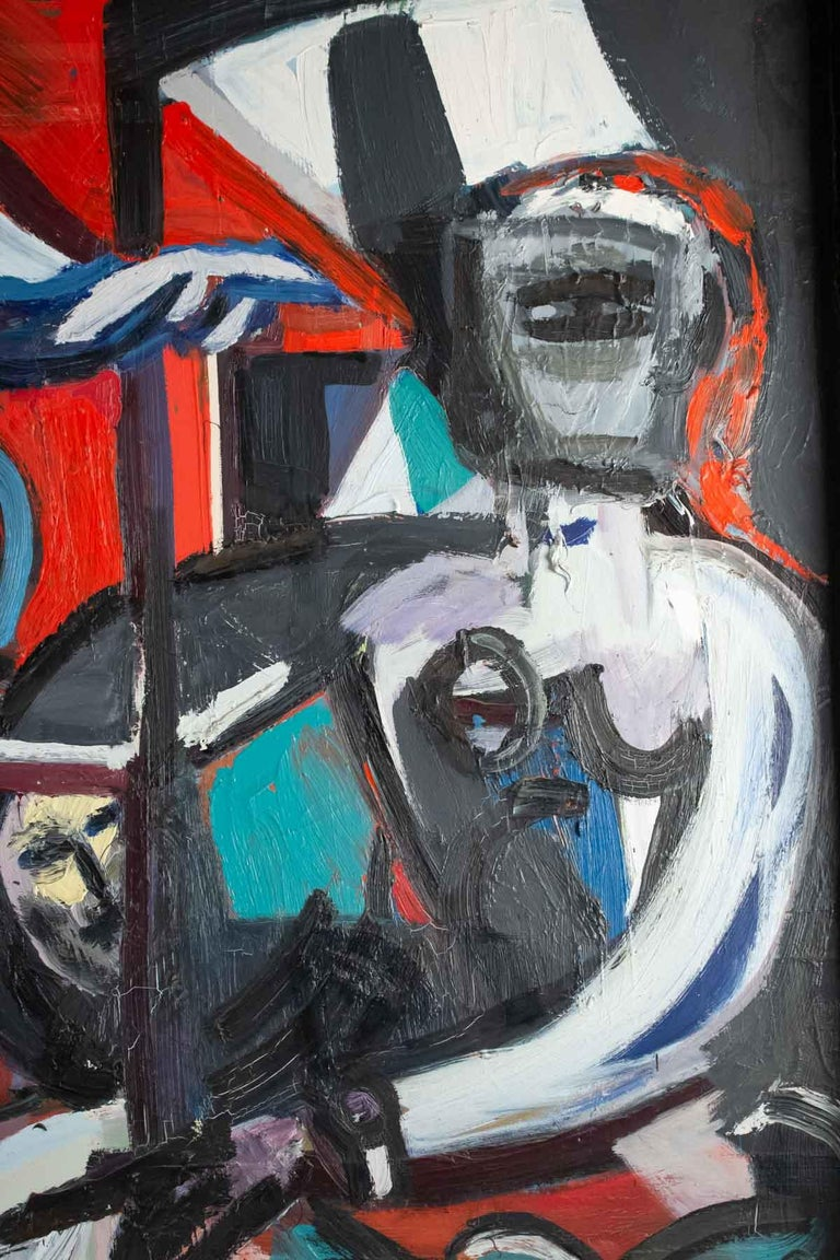 Acrylic Important Painting of the Mid-20th Century, Modern Art For Sale