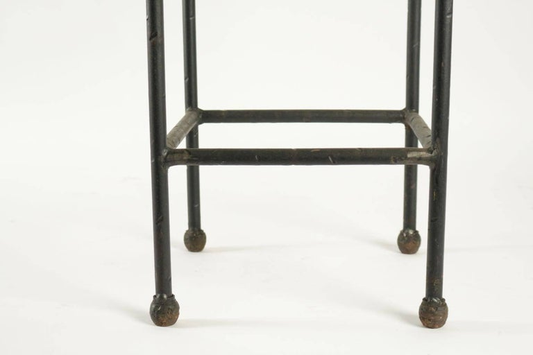 Two Consoles in Wrought Iron under Glass in an Industrial Style 20th Century For Sale 6