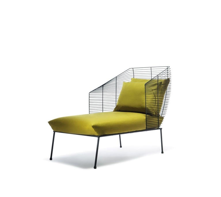 Modular settee by Anouchka Potdevin. Contemporary artist. Fabric, color finishes etc all available by custom order.