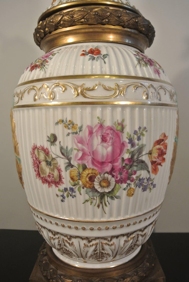 Gilt Covered Porcelain Bronze on Gilded Bronze Base from the 19th Century For Sale