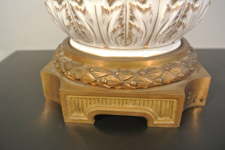 Faience Covered Porcelain Bronze on Gilded Bronze Base from the 19th Century For Sale