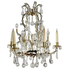 Chandelier in the Style of Louis XV with Crystal from the 19th Century