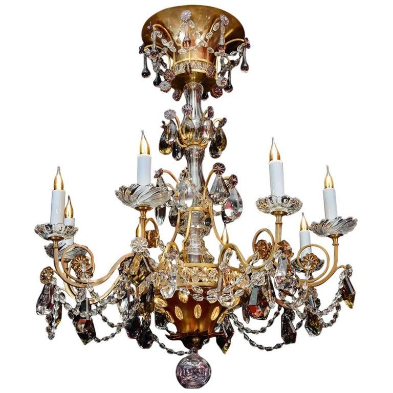 Chandelier, 1940, 12 Lights, Crystal, Highly Decorative