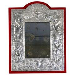 Mirror in Silver Plate, 19th Century, Period Napoleon III