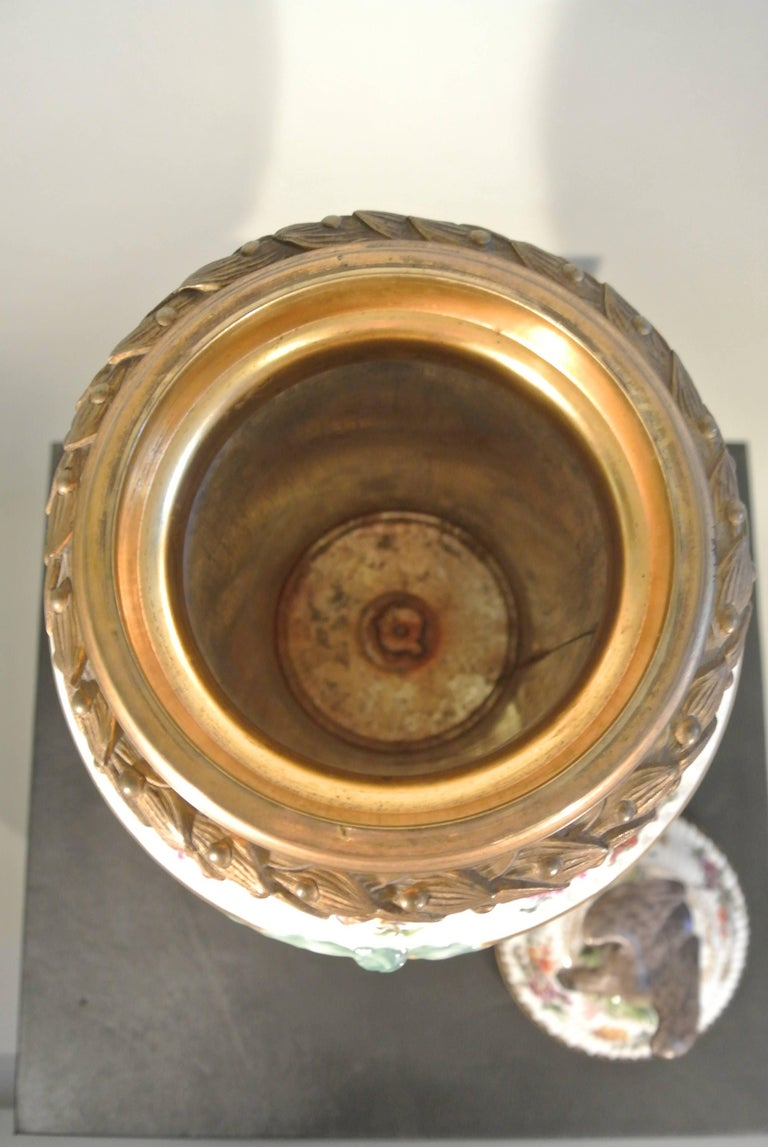 Covered Porcelain Bronze on Gilded Bronze Base from the 19th Century For Sale 2