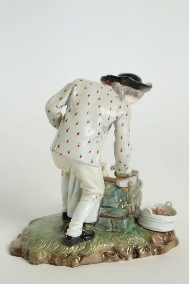19th Century Figurine in Porcelain In Good Condition For Sale In Saint-Ouen, FR