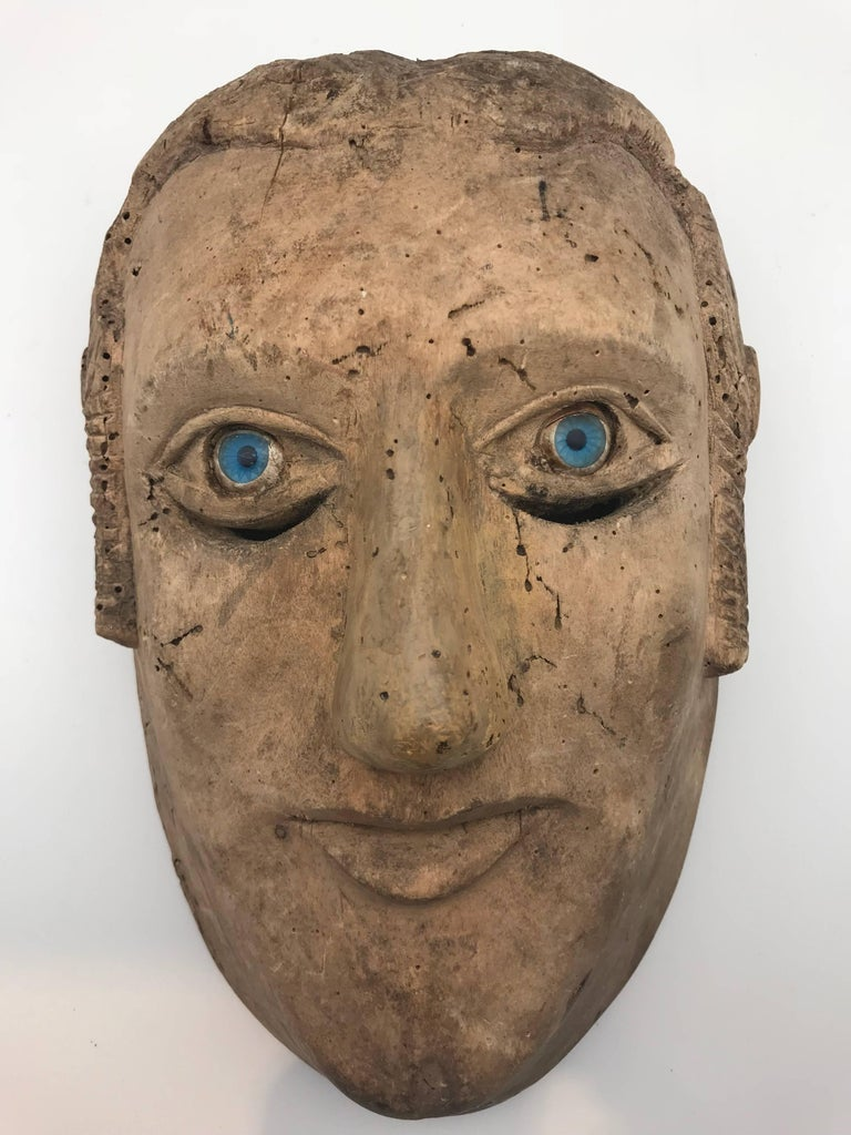 18th-19th Century Carved Slave's Mask Depicting of His/Her Master For Sale 2