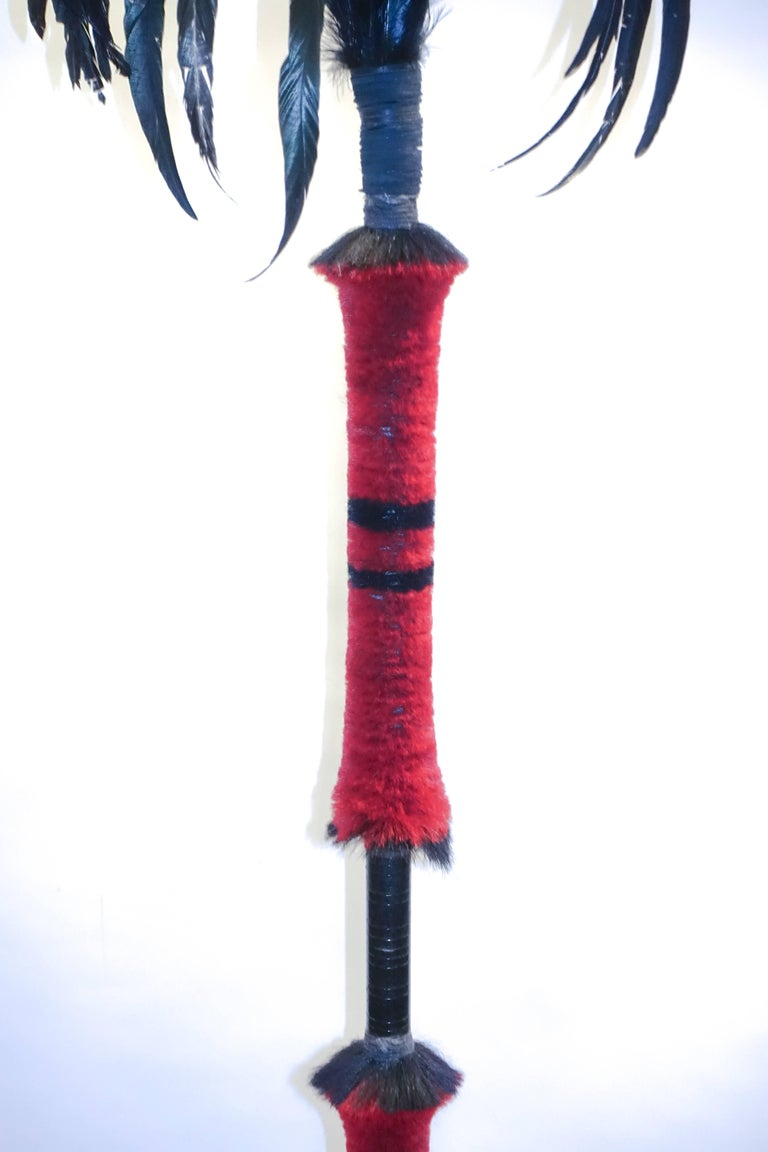 Indian Mounted Ceremonial Nagaland Spear or Staff For Sale