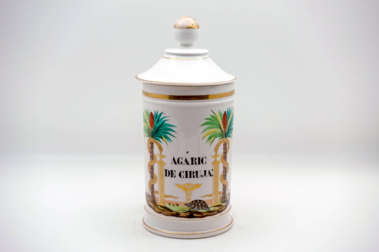 19th Century Palm Tree Pharmacy Jars In Good Condition For Sale In New York, NY