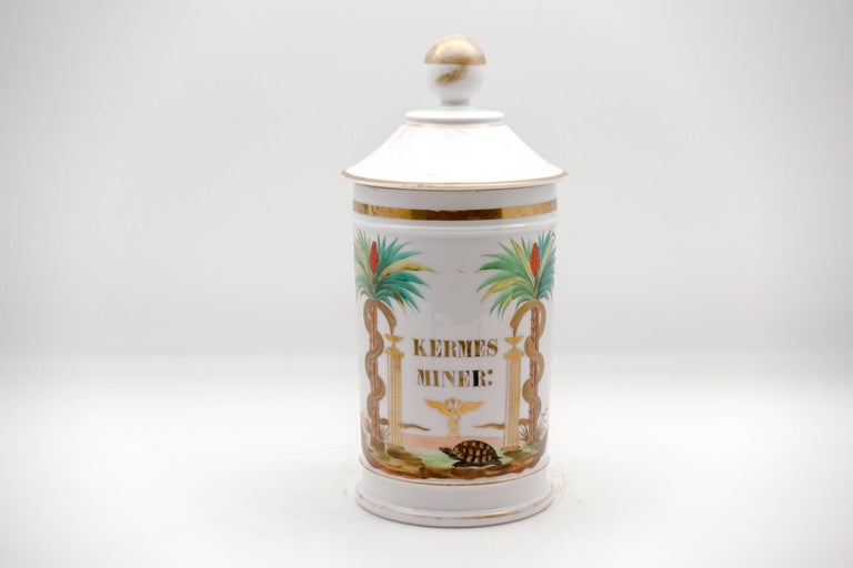 Victorian 19th Century Palm Tree Pharmacy Jars For Sale