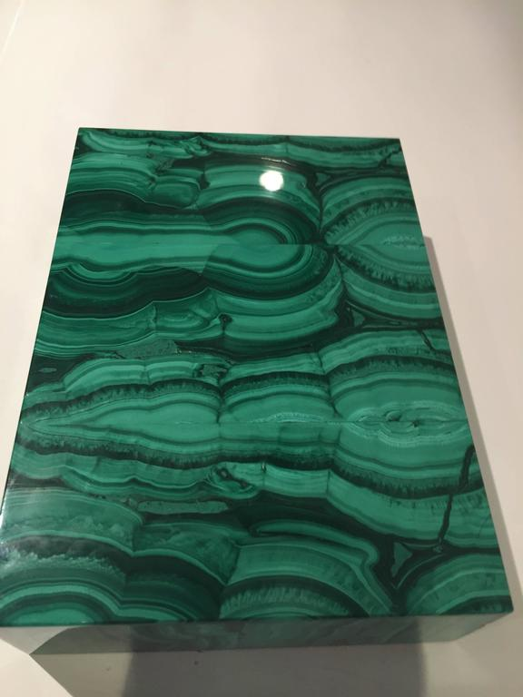 20th Century Malachite Box with Hinged Lid For Sale