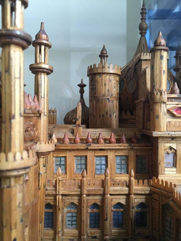 Royal Brighton Pavilion Matchstick Architectural Model by Bernard Martell In Excellent Condition For Sale In New York, NY