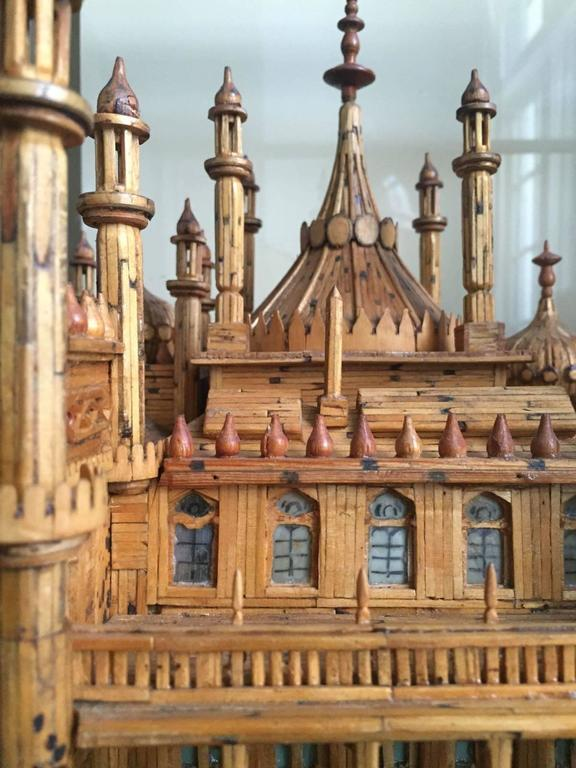 Mid-20th Century Royal Brighton Pavilion Matchstick Architectural Model by Bernard Martell For Sale